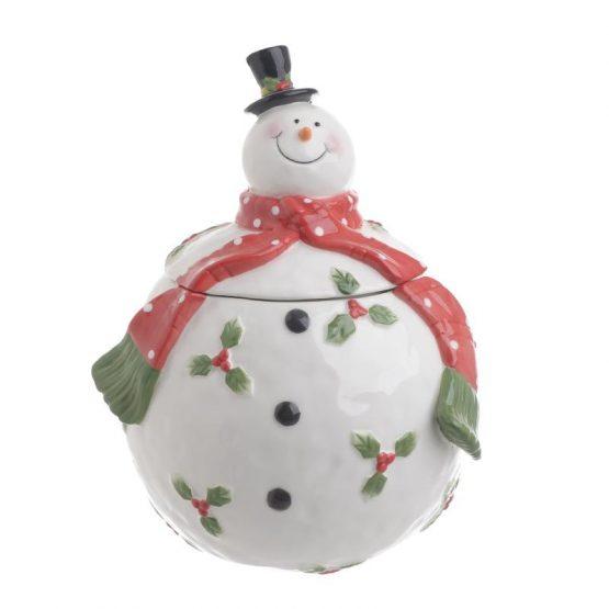 Μπισκοτοθήκη χιονάνθρωπος Inart 2-60-212-0004