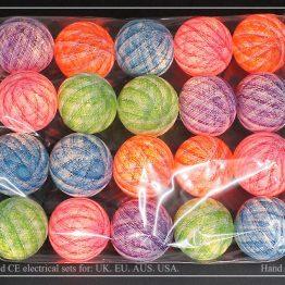 Φωτάκια διακοσμητικά 100% πολύχρωμα μελανζέ ΦΔΜ33