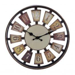 Ρολόι Τοίχου Αντικέ Inart 3-20-506-0006